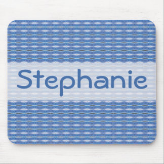blue pattern design mouse pad