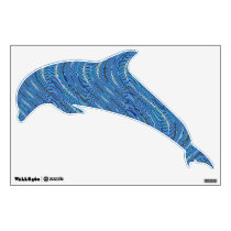 blue pattern design wall decal