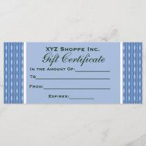 blue pattern Gift Certificate
