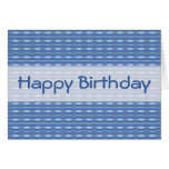 blue pattern Happy Birthday Greeting Cards