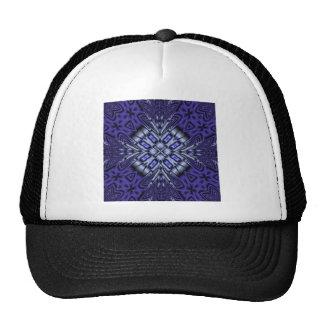 Blue Pattern Trucker Hat