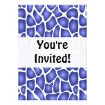 Blue Pattern Invitations