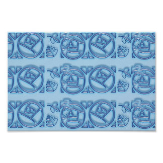 Blue Pattern : Match Wall Deco Graphic Abstract Print