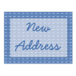 Blue Pattern Moving Post Cards