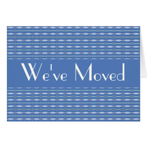 blue pattern moving stationery note card