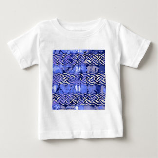 Blue pattern number 9 baby T-Shirt