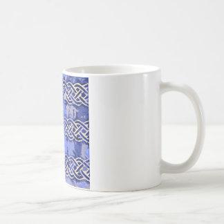 Blue pattern number 9 coffee mug