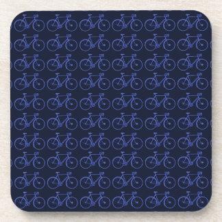 Blue pattern of bikes coaster
