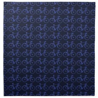 Blue pattern of bikes napkin