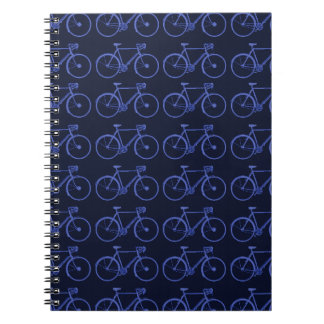 Blue pattern of bikes notebook
