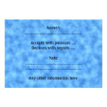 Blue Pattern. Personalized Announcements