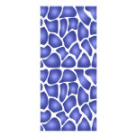 Blue Pattern Personalized Rack Card