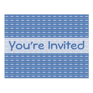 blue pattern postcard