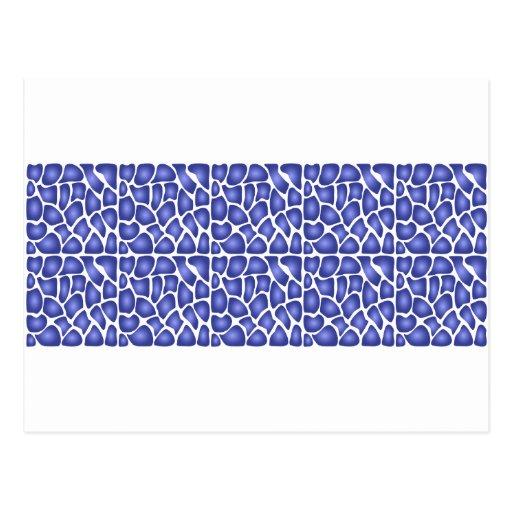 Blue Pattern Postcards