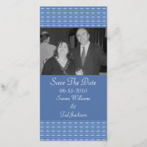 blue pattern Save the Date