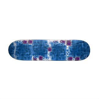 Blue Pattern Skateboard
