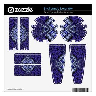 Blue Pattern Skullcandy Lowrider Skins