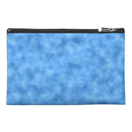 Blue Pattern. Travel Accessory Bags