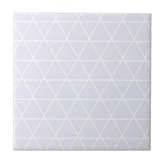 Blue pattern triangles ceramic tile