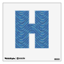 blue pattern wall decal