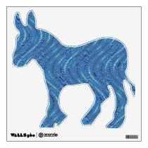 blue pattern wall sticker