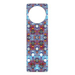 red and blue, door card with numbers, blue and red