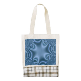 Blue pattern zazzle HEART tote bag