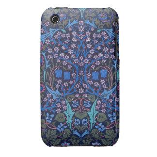Blue Patterned Floral Art Nouveau William Morris C Case-Mate iPhone 3 Cases