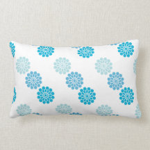 Blue Patterned Pillow Pillow
