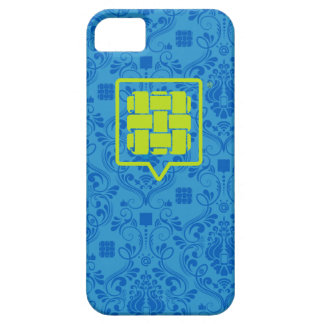 Blue Patterned SoFab logo iPhone Case Case For iPh