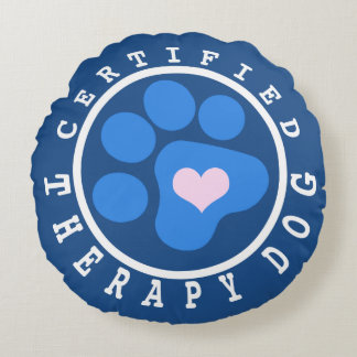 Blue Paw Certified Therapy Dog Snuggle Round Pillow