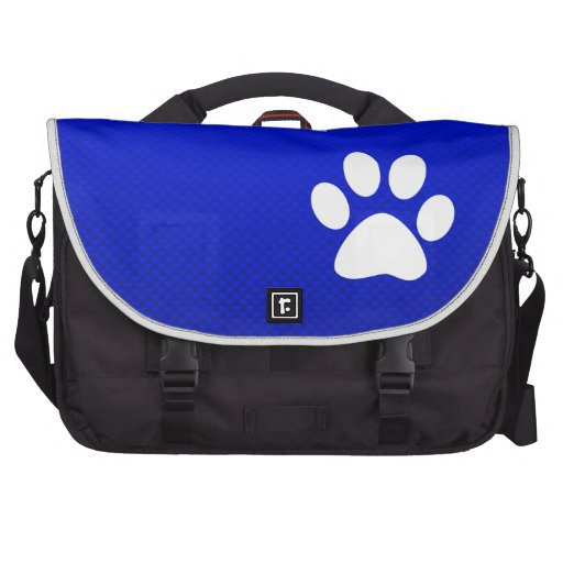 Blue Paw Print Bags For Laptop