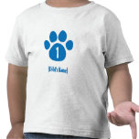 Blue Paw Print Birthday T-shirt