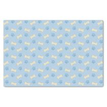 Blue Paw Print Bone Pattern Tissue Paper