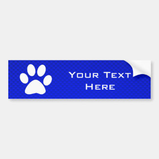 Blue Paw Print Car Bumper Sticker