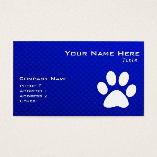 Blue Paw Print Business Card