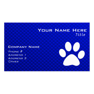 Blue Paw Print Business Card Templates