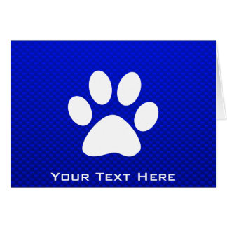 Blue Paw Print Card