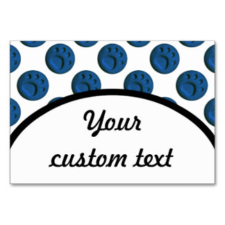 Blue Paw Print Dot Card
