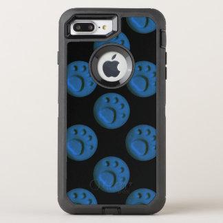 Blue Paw Print Dot OtterBox Defender iPhone 7 Plus Case