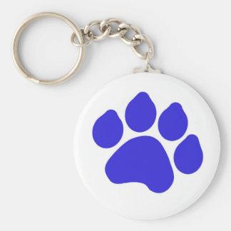 Blue Paw Print Keychain
