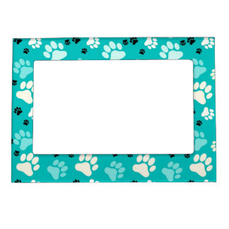Blue Paw Print Magnetic Frames
