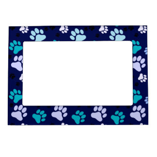 Blue Paw Print Magnetic Photo Frame