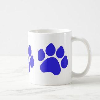 Blue Paw Print Mug