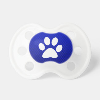 Blue Paw Print Pacifier