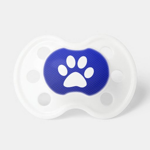 Blue Paw Print Pacifiers