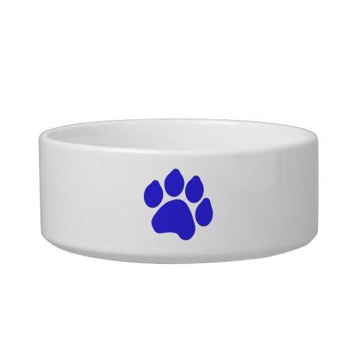 Blue Paw Print Pet Bowl