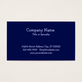 Blue Paw Print Pet Service Business Card