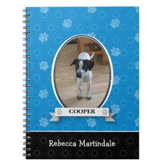 Blue Paw Print Pet Spiral Notebook