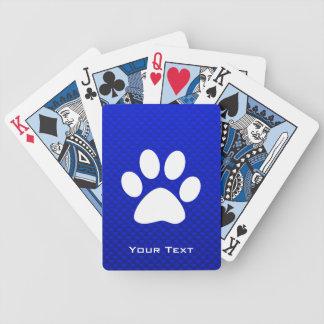 Blue Paw Print Card Deck